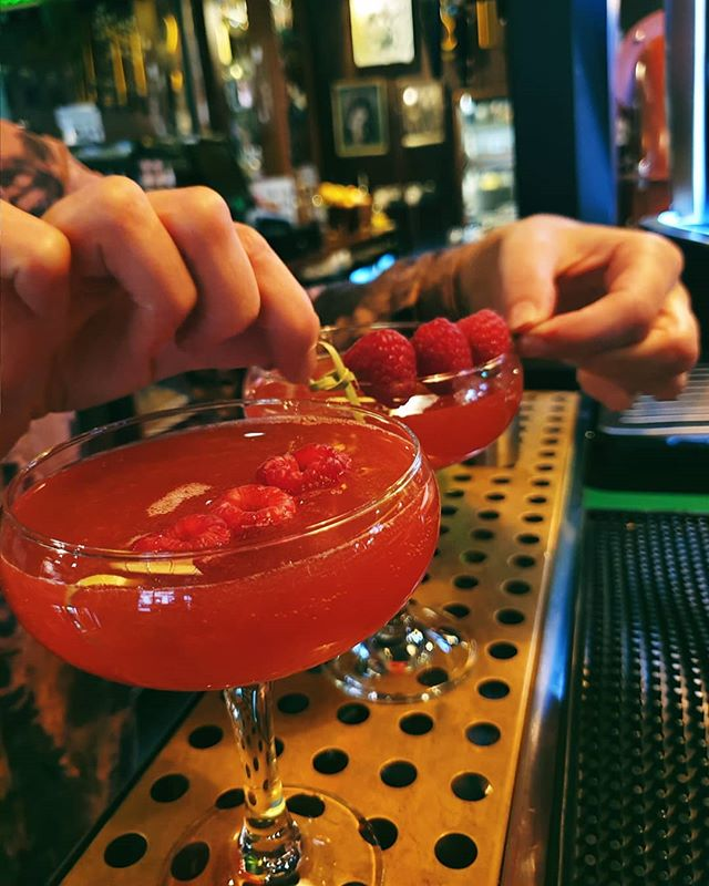 We start our happy hour on a Sunday 🍸  Get two of these Culchie Cosmos for £10. Sun - Thurs, 5-8pm  #TheCornerBoyNQ
