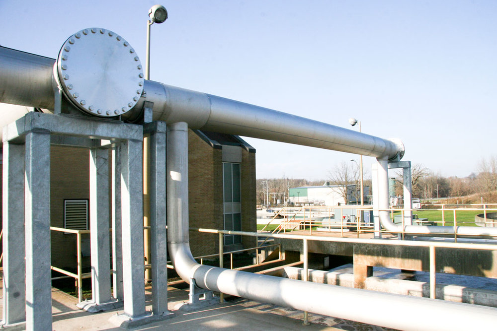 Piping - We provide service for process piping systems. This includes glycol, thermal oil, steam, air, water, gas, refrigeration and condensate piping.