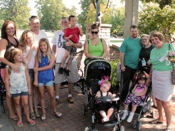 Multi-generations enjoy Grandparents' Day in the Linnaeus Teaching Garden.