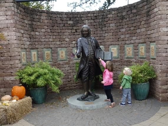 "The 6'5"" full-figure sculpture of Carl Linnaeus was created by Tulsa sculptor Rosalind Cook."