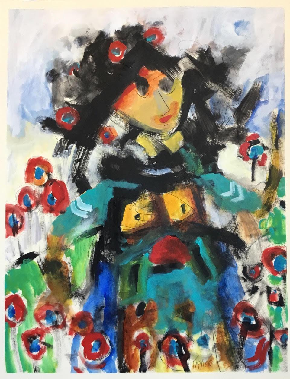 """The Garden Goddess   26"""" x 20""""    Acrylic on Canvas .jpg"""
