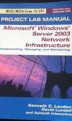 Project Lab Manual Windows Server 2003