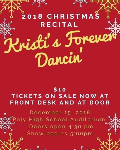 Join us this Saturday for our 1st Annual Christmas Recital featuring our hard working recreational dancers as well as some of our competition dances that will hit the stage for the very first time!  Hope to see you there!  #kristisforeverdancin  #christmasmemories🎄  #riversidedancers  #kfdisseventeen