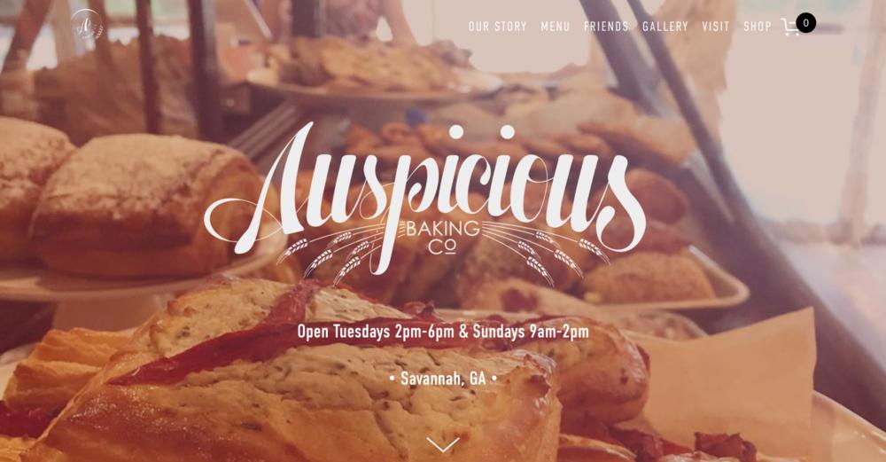 Website Design + Copywriting — Auspicious Baking Co.