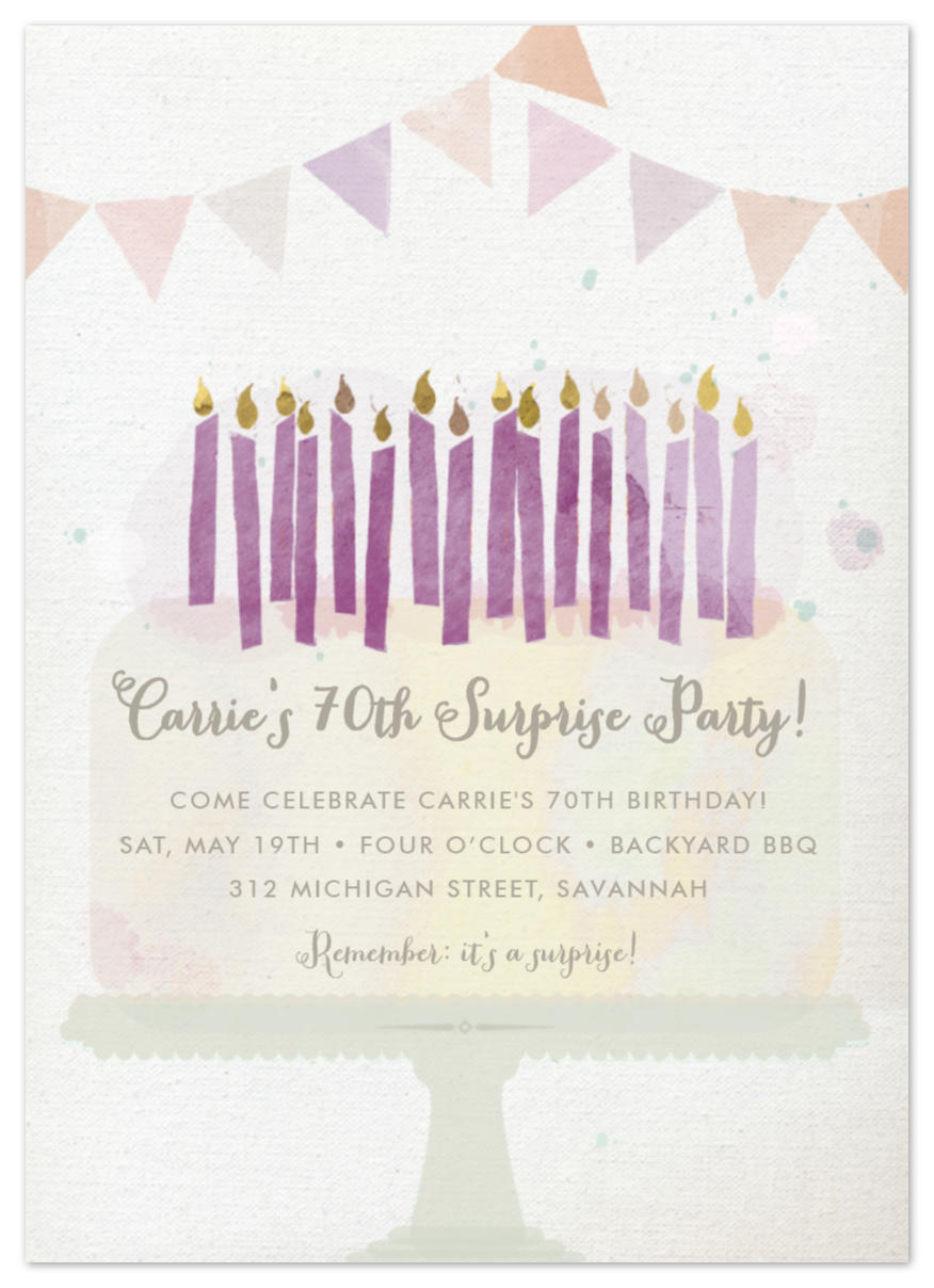 Party Invitations —  private order