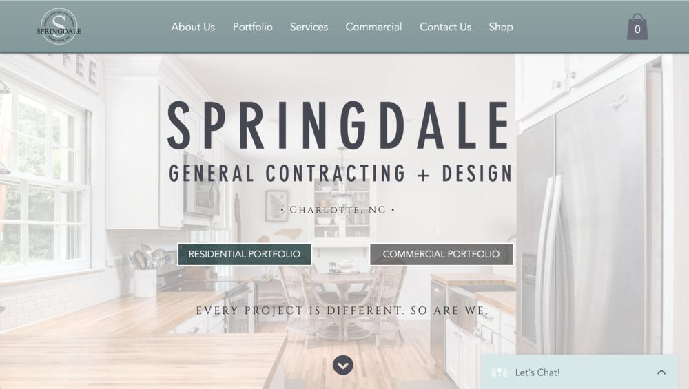 Website Design + Copywriting — Springdale GC + Design