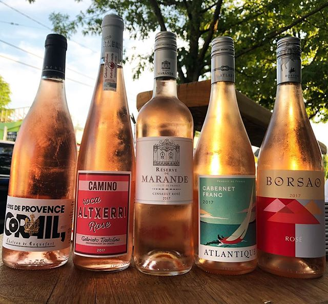 We got the french wine, spanish wine, california wine, oregon wine, and italian wines. Compare and contrast roses or grab an old favorite!!! #borsao #camino #domainesorin #corail #atlantique #prospectbottleshopandbar #pdx #roseallday