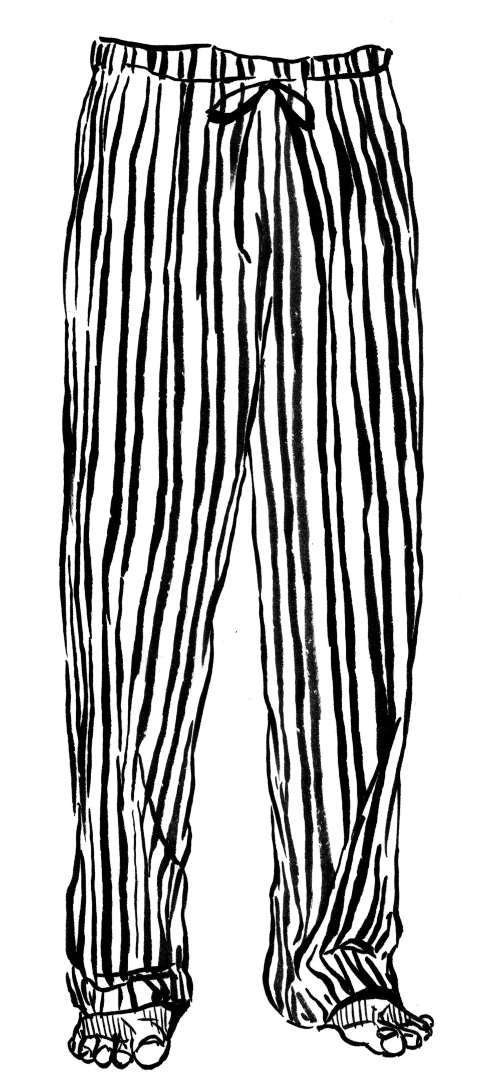 Pajamas for University of Depaul Chicago Sleep Study, Ink 2017