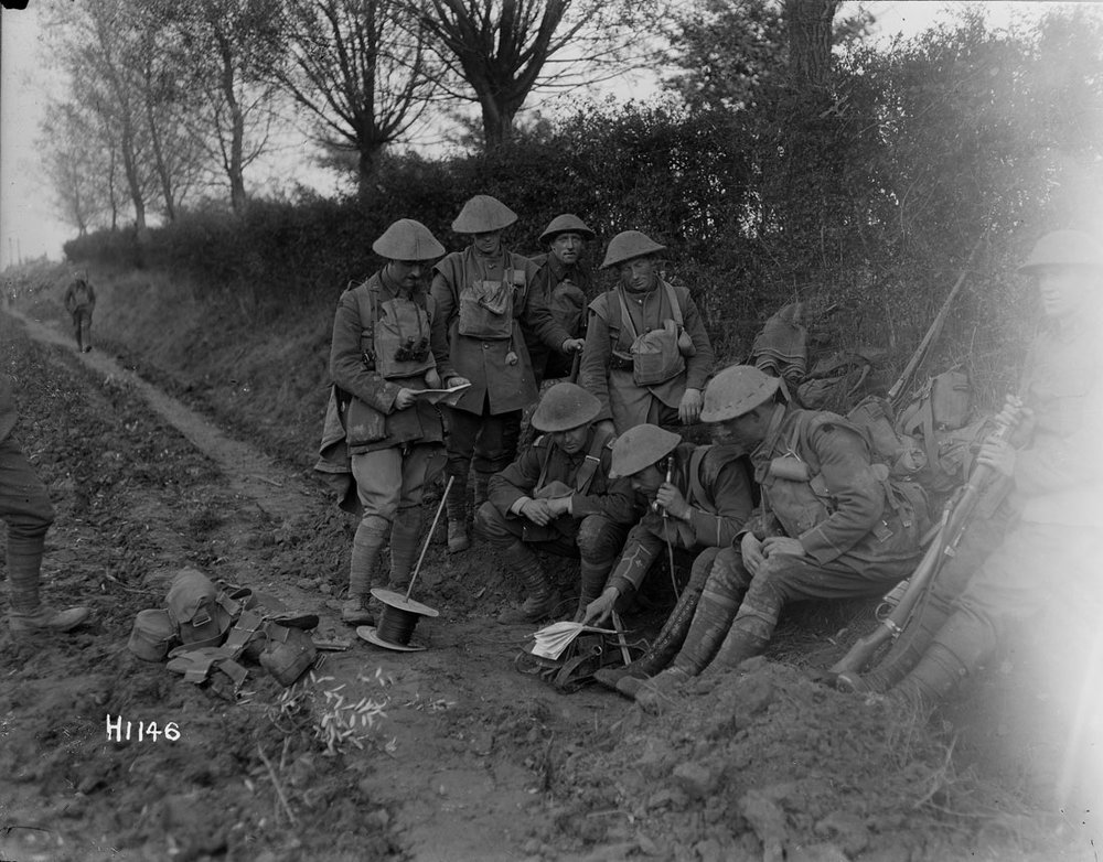New Zealand support line near Le Quesnoy