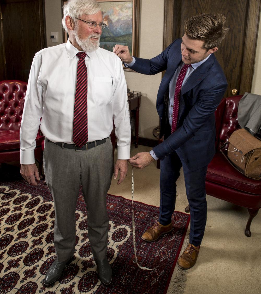 Pershing-Suit Fitting University of Utah Custom suits