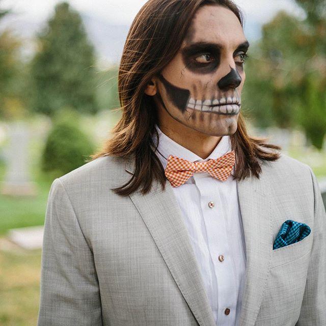 Have a spooktacular Halloween . #zombieswearsuits  @adameugenekaiser @alexisjadekaiser @inframesphotography #halloweencostume #halloweenmakeup #zombiemakeup #zombie #gentleman