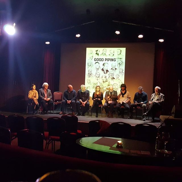 """Q&A! Enjoyed a Q&A after the Dublin screening of """"Good Piping"""", a vérité documentary film on Irish uilleann pipers.  Copies of the film are available for purchase at: www.GoodPipingFilm.com. . The Q&A was moderated by Peter Woods (RTÉ) with cast (Terry Moylan, Jimmy O'Brien-Moran, Banba Fitzgerald, Néillidh Mulligan, Leo Rickard, Joe Doyle, & Tierna Rowsome) and director (Davis Watson) of the movie. . Location: The Sugar Club Date: January 4th, 2018 . 📸: @brian_crehan . Full Q&A video at: https://m.youtube.com/watch?v=vlgU--kHUnU&t=716s"""