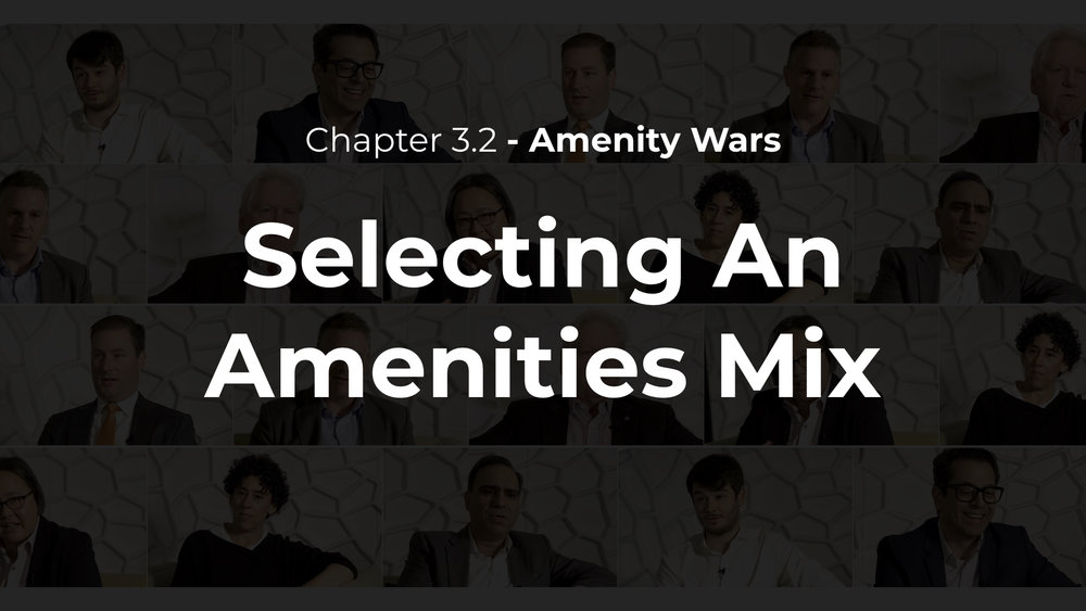 3.2 - Selecting an Amenities Mix