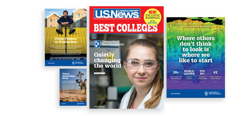 UNH Student Recruitment Work - US News and World Report Cover Wrap - Loren Marple