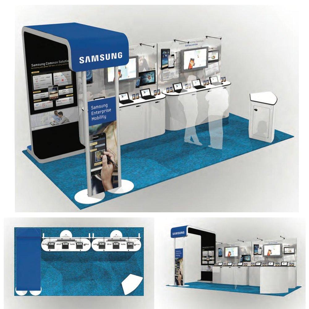 Samsung 20x10 booth