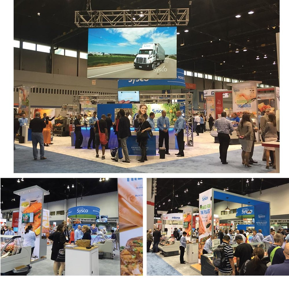 Sysco 70x100 booth