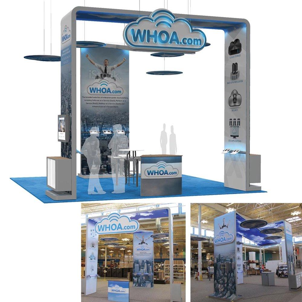 Whoa.com 20x20 booth