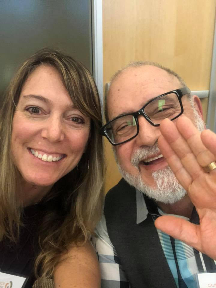 Julie Baker, CFTA, ED and Stan Miller, consultant to California Alliance of Arts Educators attend the CAAE policy council meeting in January.
