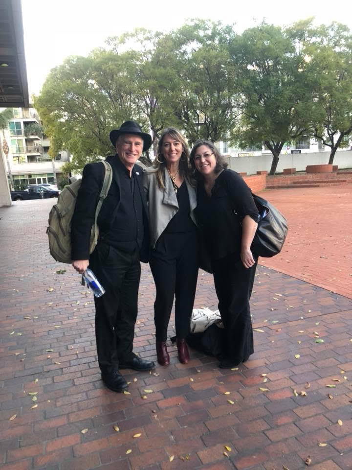Arts leaders and board members Michael Alexander and Sofia Klatzer in LA with Julie Baker, CFTA ED.