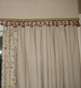 Bedroom Curtains and pelmet