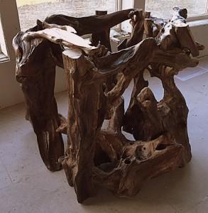 Bog wood table base