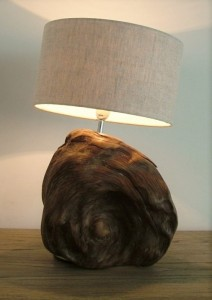 Bogwood lamp in Sitting Room