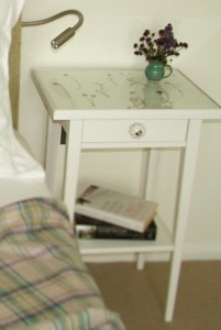 Machair Bedroom cushion and bedside table