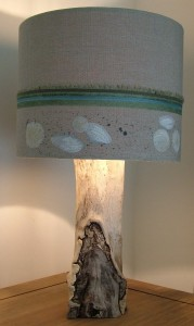 Shell lampshade in Seashore Bedroom