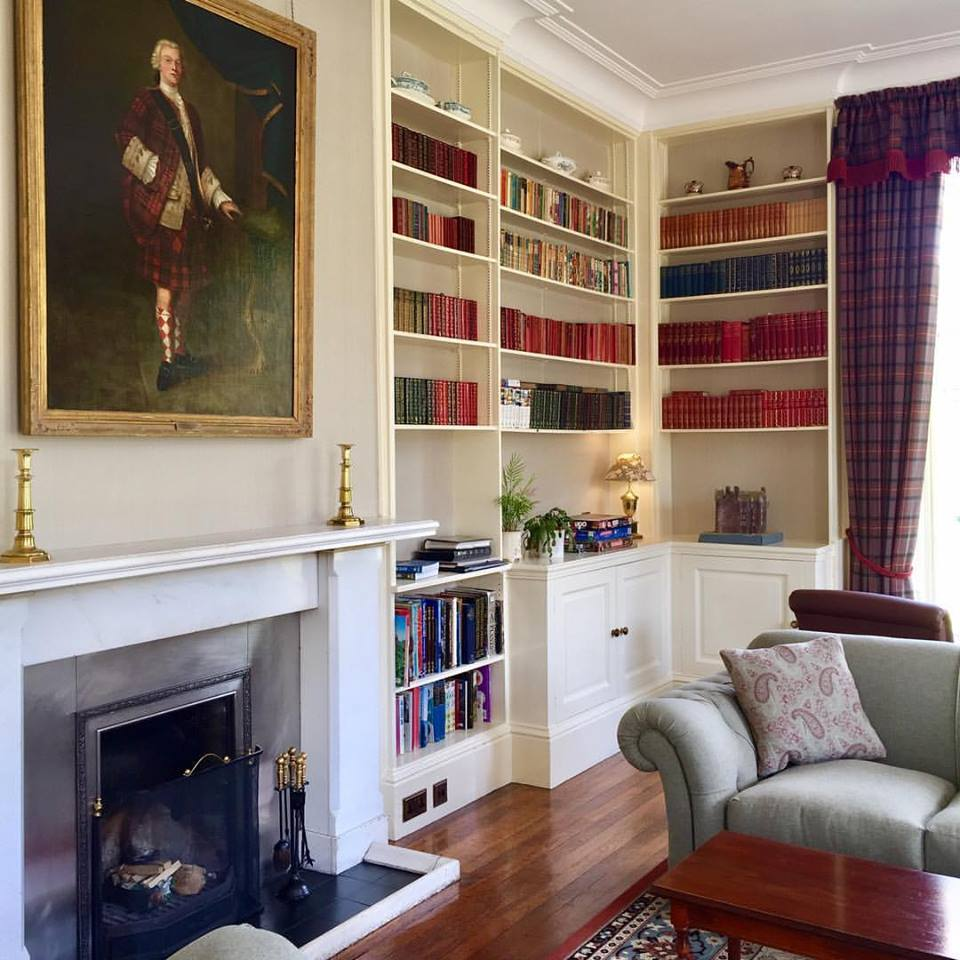 Glengarry Castle Hotel Library