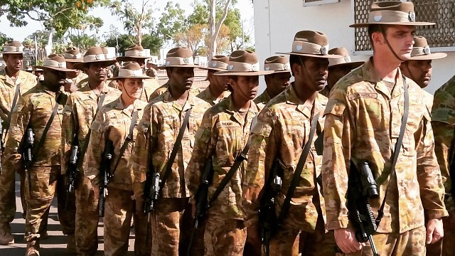Ceremonial Parade to mark the formation of The #Aboriginal and #TorresStraitIslander Regional  Force Surveillance Group  #NORFORCE #Darwin NT