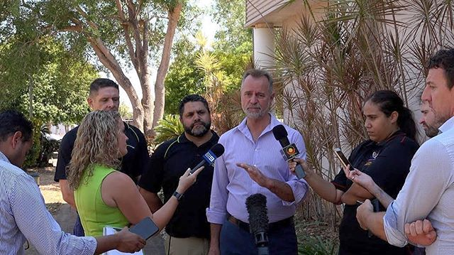 #senator #scullion making an announcement about the financial year and the new funding for Aboriginal and Torres Strait Islander business start ups #darwin #northernterritory #indigenous #robertsonarmybarracks #radiolarrakia