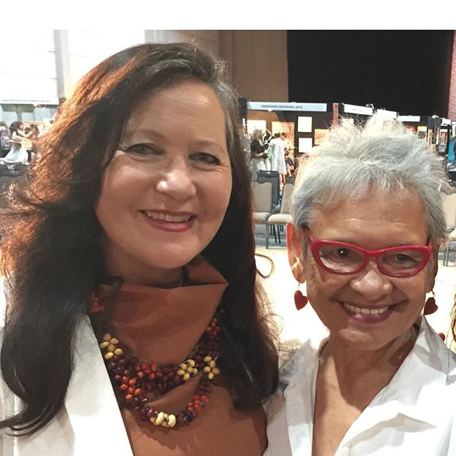 Our #CEO Dr Donna Oegaard AM with Emeritus Professor Mary-Ann Bin Sallik celebrating the #2018 #Darwin #AboriginalArtFair held at the Darwin Convention Centre. #northernterritory #strong #indigenous #aboriginal #women #leadership #latergram