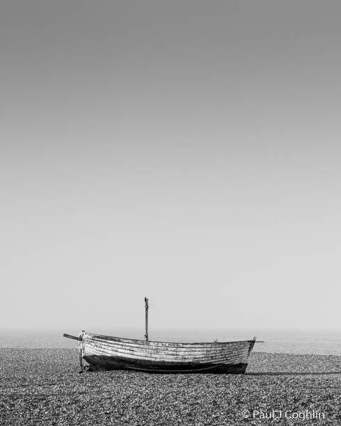 Retired fishing boat on Aldeburgh beach on the Suffolk coast.