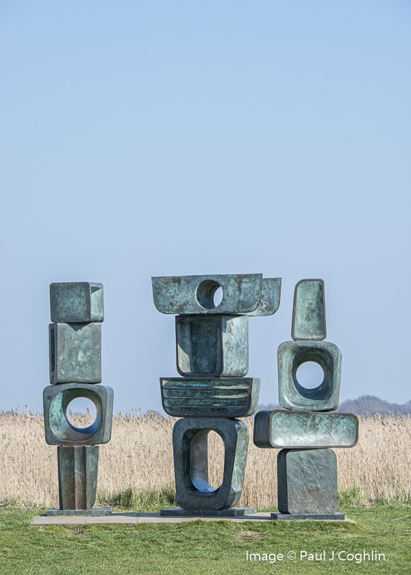 Family of Man by sculptor Barbara Hepworth at Snape Maltings in Suffolk