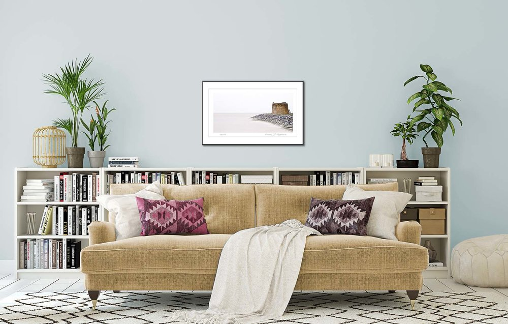 Mortello II. Limited edtion photographic prints of a Mortello tower and seascape by fine art photographer Paul Coghlin.