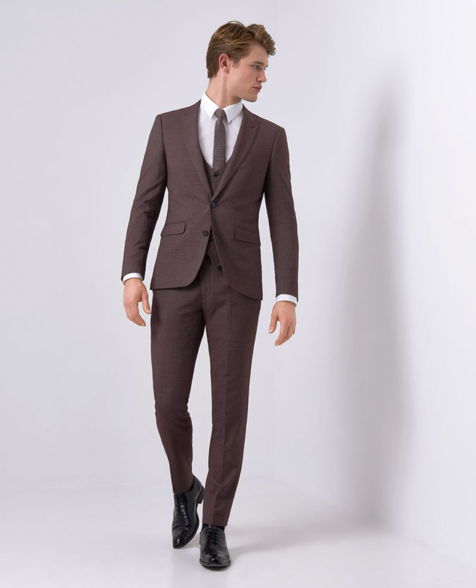 X-Slim Fit Burgundy -