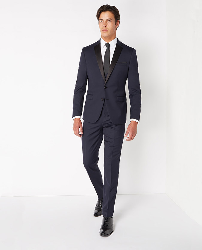 Navy Slim Fit Mix & Match Dinner Suit -