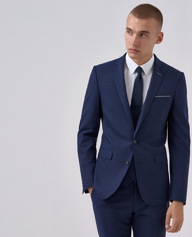 Blue Slim Fit Mix & Match -