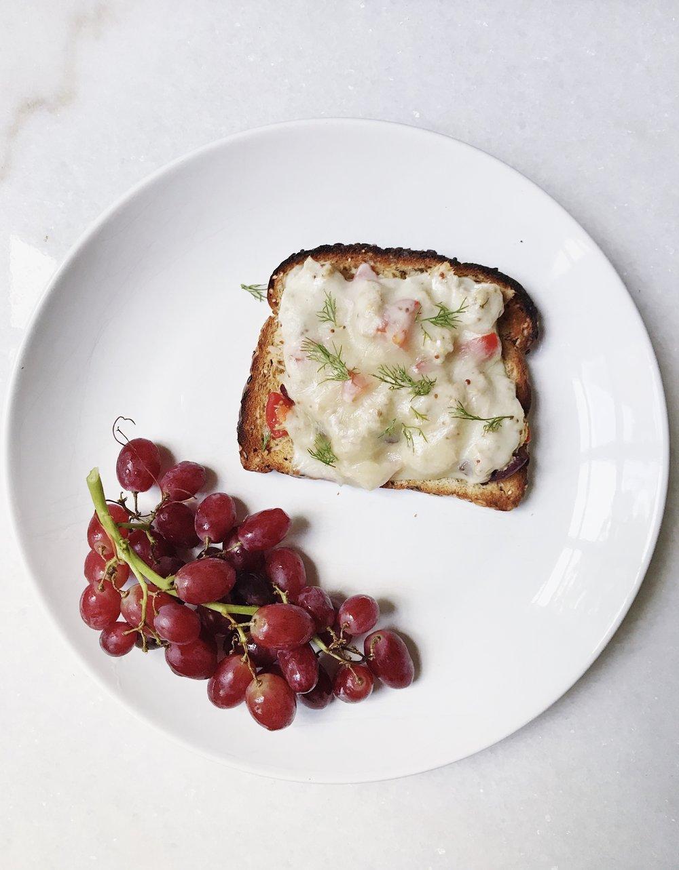 Tuna melt with grapes.jpg