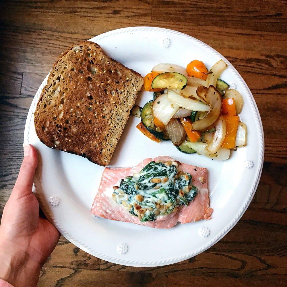 Stuffed Salmon and veggies.JPG