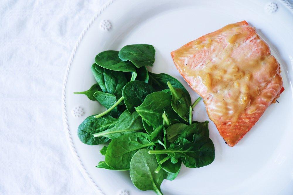 Miso Ginger Glazed Salmon Aerial.JPG