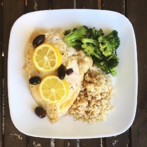 Mediterranean Skillet Chicken with Lemon & Olives