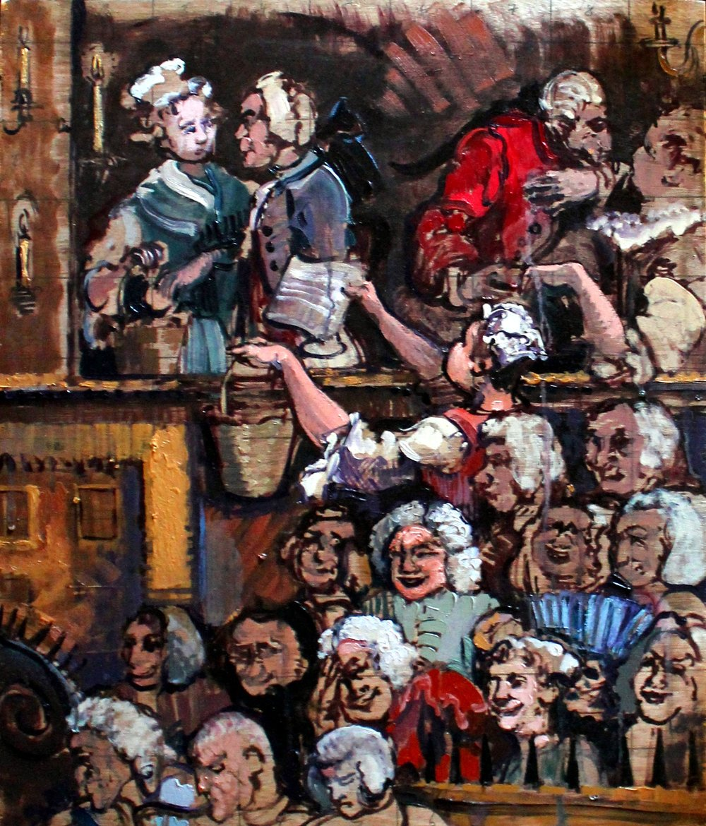 The Laughing Audience (after Hogarth)