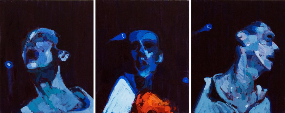 Three Studies for a Portrait of Bez