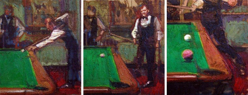 Three Studies for a Portrait of Alex Higgins I