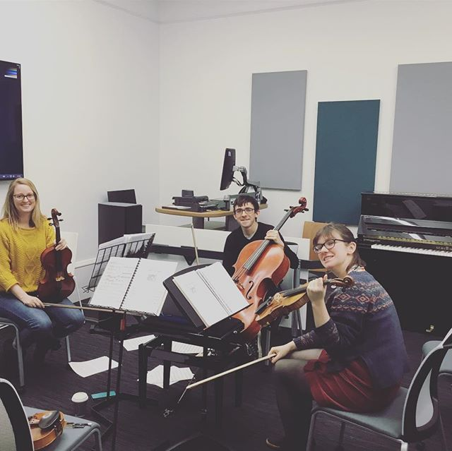 We've started rehearsing for Secret Sounds, our programme for early 2019! We've been getting to grips with loads of crazy music by Caroline Shaw, William Byrd and lots more. You can join us in London on the 23rd of February, and we'll be announcing more events in Manchester and Coventry soon. #echochamberlive #secretsounds  #livingroomgig #rehearsal #classical  #stringquartet