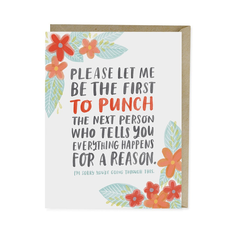 Empathy Cards - Emily McDowell Studio, $4.50Emily McDowell has mastered the art of what to say when you don't know what to say, and her Empathy line can help take you from speechless to supportive in no time. Her cards span the spectrum of life-changing challenges and we think you'll love the emotionally frank messages as much as we do.