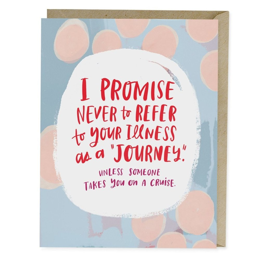 Illness Is Not A Journey Empathy Card - Emily McDowell Studio, $4.50