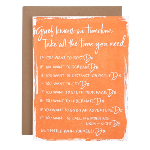 Grief Knows No Timeline Card - #IHadAMiscarriage, $4.50