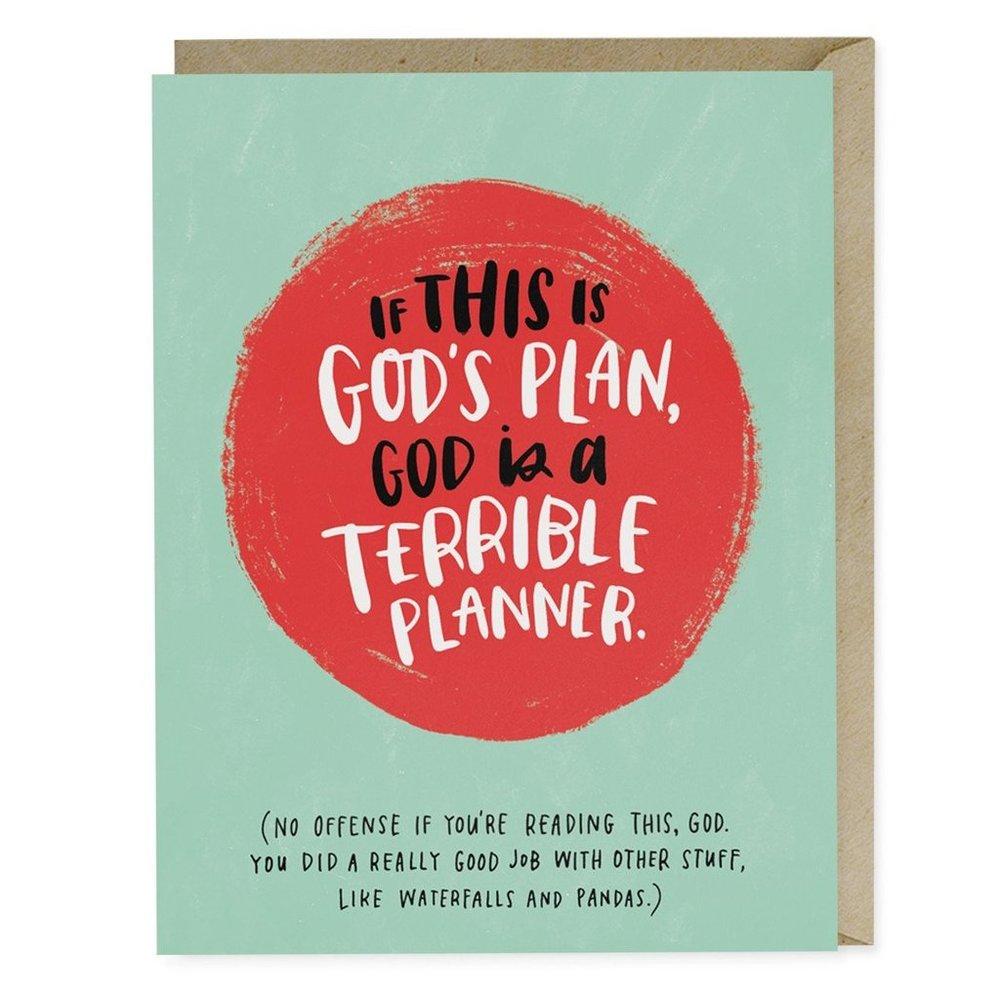 God's Plan Empathy Card - Emily McDowell Studio, $4.50